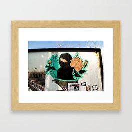 Islamic Flower Street Art Framed Art Print