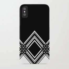 Abstract geometric pattern - black and white. iPhone Case