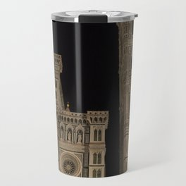 piazza del duomo cathedral square Firenze Tuscany Italy Travel Mug
