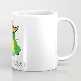 Qué Pasa? Funny Mexican Toad With Sombrero Cigarette Frogs & Amphibians Design Coffee Mug