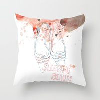 shoes Throw Pillows featuring shoes by Sabine Israel