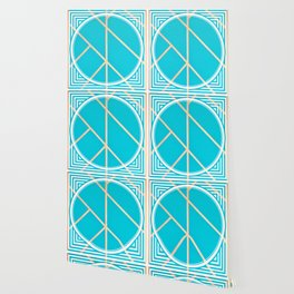 Leaf - circle/line graphic Wallpaper