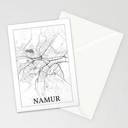 Namur, Belgium, city map Stationery Cards