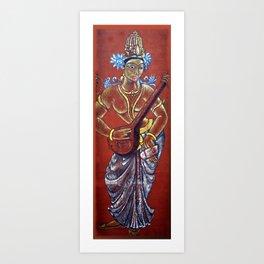 Saraswati - Musical Art Print