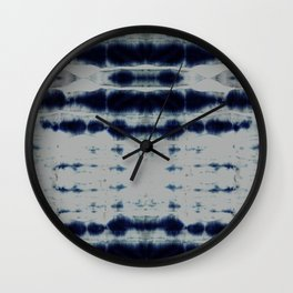 Shibori Strips Wall Clock