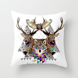 ▲FOREST FRIENDS▲ Throw Pillow