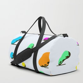 colorful stone pattern on light background. Duffle Bag