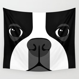 Boston Terrier Close Up Wall Tapestry