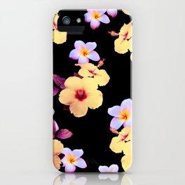 Hibiscus and Plumeria iPhone Case