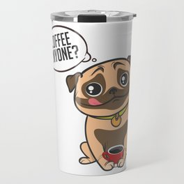 Pugs & Coffee Travel Mug