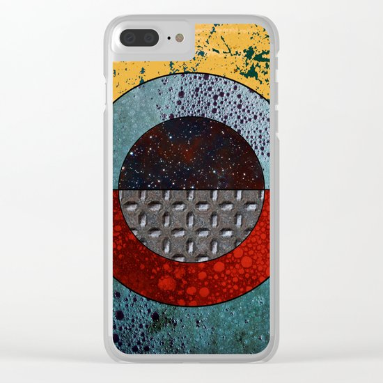 Abstract #127 Clear iPhone Case