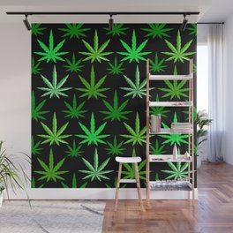Marijuana Green Weed Wall Mural