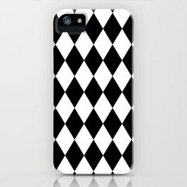 Black and White Liquorice Pattern iPhone Case