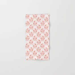 Peachy Living Coral Flower Blooms Hand & Bath Towel