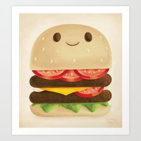 burger Art Prints featuring Burger by Greg Abbott
