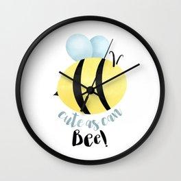 Cute As Can Bee! Wall Clock