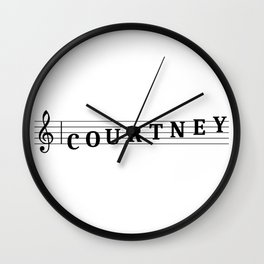 Name Courtney Wall Clock