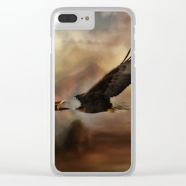 Eagle Flying Free Clear iPhone Case