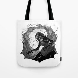 Inktober Wolfman Tote Bag
