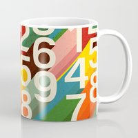 retro Mugs featuring Retro Numbers by Picomodi