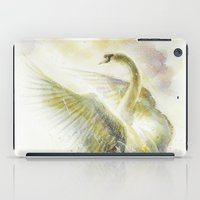 swan iPad Cases featuring Swan by beart24