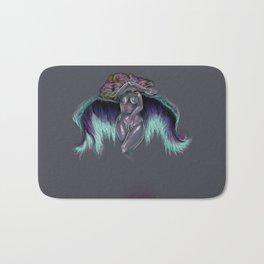 Curvy Rainbow Angel Pinup  By, Amber E Bath Mat