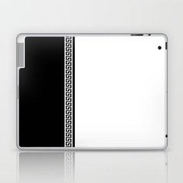 Greek Key 2 - White and Black Laptop & iPad Skin
