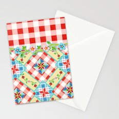 Cottage Chic Gingham II Stationery Cards