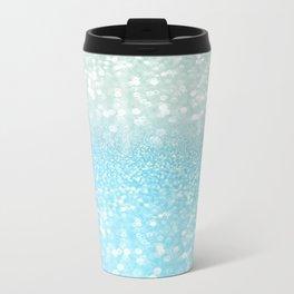 Mermaid Sea Foam Ocean Ombre Glitter Metal Travel Mug