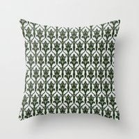 221b Throw Pillows featuring 221b Wallpaper by rogueleader