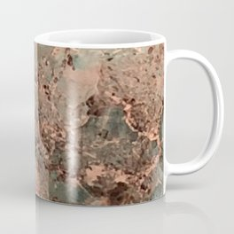 Marble Emerald Copper Blue Green Coffee Mug