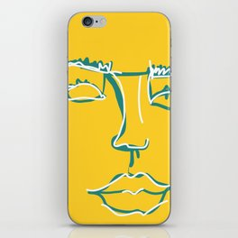 contour face iPhone Skin