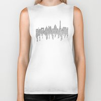 casablanca Biker Tanks featuring Paris by S. L. Fina