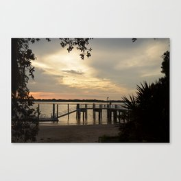 Delightful Dock Canvas Print