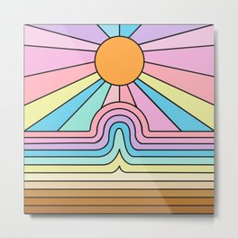 Rainbow No. 1 - The curve flattens and hope shines Metal Print