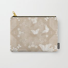 Dreamy butterflies and mandala in iced coffee Carry-All Pouch