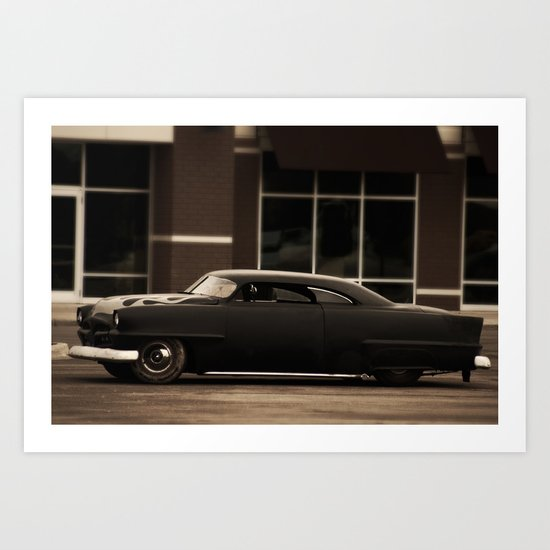 """""""Nothing behind me, everything ahead of me, as is ever so on the road."""" -Kerouac Art Print"""
