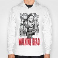 walking dead Hoodies featuring Walking Dead by Matt Fontaine