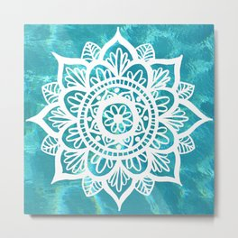 Water Mandala Metal Print