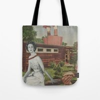 hot dog Tote Bags featuring Hot Dog by Jon Duci