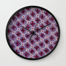 Mosaic in violet Wall Clock