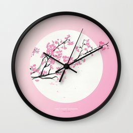 [3.26—3.30] First Cherry Blossoms Wall Clock