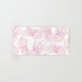 Pink jellyfish Hand & Bath Towel