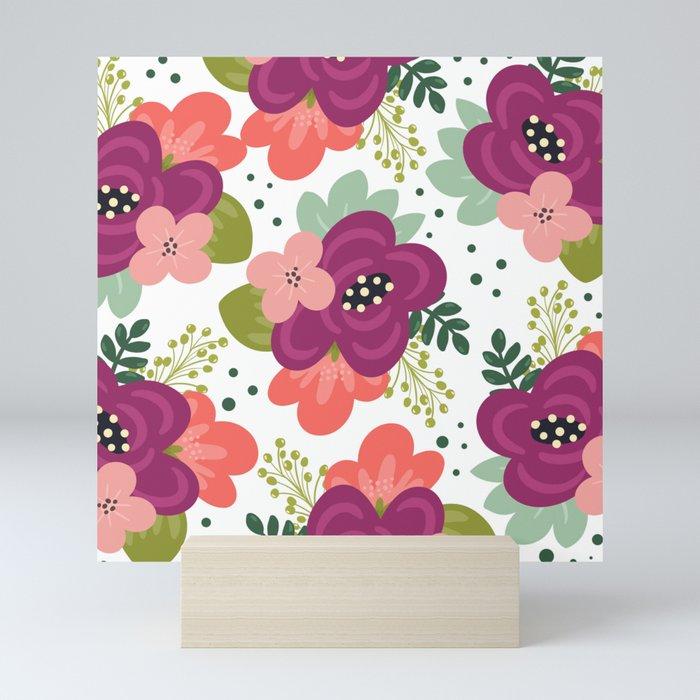 Blooming Florals Mini Art Print