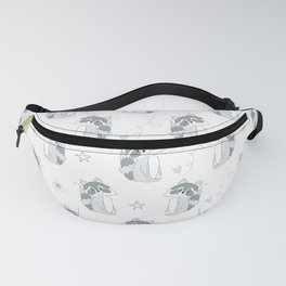 Hand Drawn Raccoons Fanny Pack
