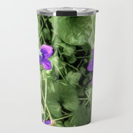 Wild Violets With Attitude Travel Mug