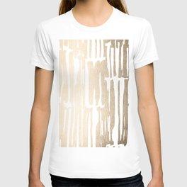 White Gold Sands Bamboo Stripes T-shirt