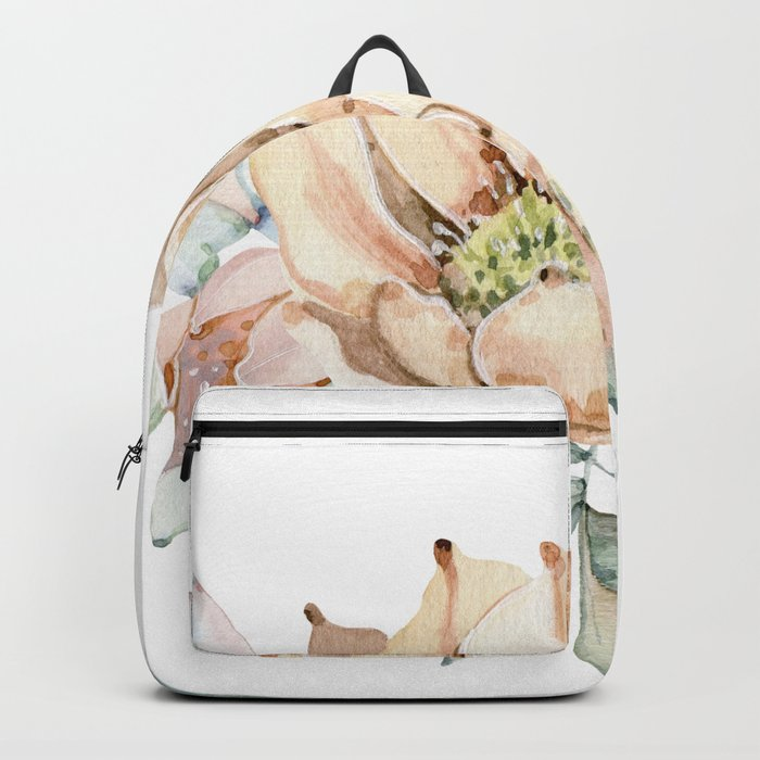 Coral Desert Roses Backpack