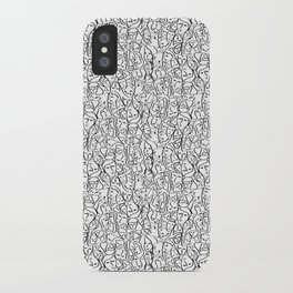 Mini Elio Shirt Faces in Black Outlines on White CMBYN iPhone Case