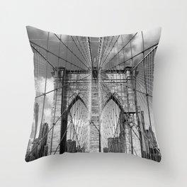 Brooklyn Bridge New York City Throw Pillow